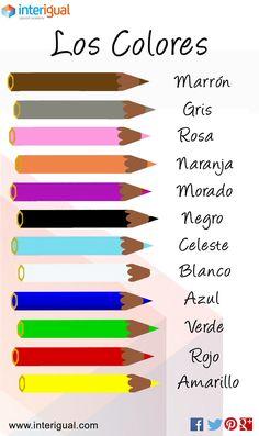 The colors, Spanish / Los colores, Español