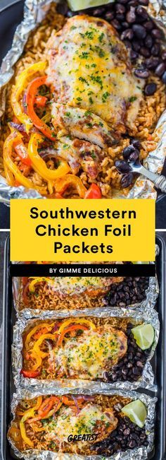 9 Fall Meal-Prep Lunches That Will Be the Prettiest Things to Hit Your Desk Southwestern Chicken Foil Packets Lunch Meal Prep, Healthy Meal Prep, Healthy Eating, Healthy Recipes, Healthy Camping Meals, Heart Healthy Meals, Meal Prep Menu, Healthy Lasagna, Simple Recipes