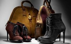 Burberry AW 2012 Accessory Range Fringe Field Boot & Shearling Lined Platform Ankle Boot.