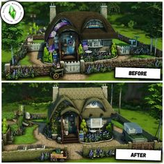 Sims 4 Build, Wisteria, Cottage, Mansions, House Styles, Building, Instagram, Sims 4 Houses, House