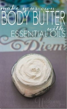 DIY Body Butter Recipe cup coconut oil cup raw shea butter 2 oz sweet almond oil (you could sub jojoba oil) Young Living essential oils of your choice Diy Cosmetic, Homemade Body Butter, Homemade Soaps, Diy Lotion, Lotion Bars, Salud Natural, It Goes On, Easy Food To Make, Homemade Beauty Products