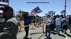 And a few hundred protesters did just that today in Murrieta, California, including Rage Against the Media's ...