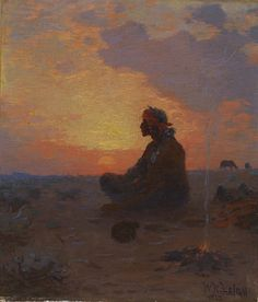 Sitting Indian by William R. Leigh / 1917 kp