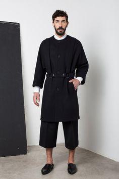 32b799bc9a6 Mens coat Mens wool coat Mens black coat Mens long coat Mens winter coat  Mens overcoat Mens raincoat minimalist clothing Mens harness coat