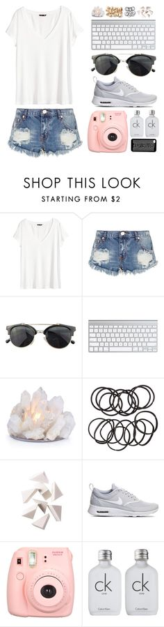 """and i'm all messed up 'cause all i see is windmills in the sky"" by brooksse ❤ liked on Polyvore featuring H&M, One Teaspoon, Chicnova Fashion, Bobbi Brown Cosmetics, NIKE, Polaroid and Calvin Klein"