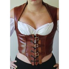 Items similar to leather Steampunk pirate Renaissance underbust vest on Etsy