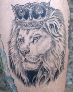 Lion and Lioness with Crown Tattoo Designs | Reason to choose lion tattoo designs