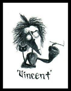 """""""Vincent"""" (1982) corto de Tim Burton. Un niño solitario, especial, recuerdos de Poe, de pelis de terror. Vincent Price recitando y trasladándonos al complejo y rico mundo de Vincent Malloy, personaje. Romanticismo en estado puro."""