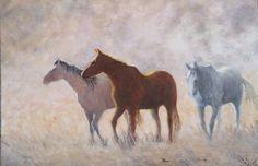 Nag, Nag, Nag, oil, by John Edwards. Cardigan Art Society Named Art Club of the Year 2017 John Edwards, Art Society, Name Art, Art Club, Horses, Oil, Animals, Animales, Animaux