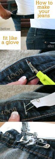 Achicar la cintura de un pantalón