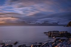 Sunset  at Elgol beach - null