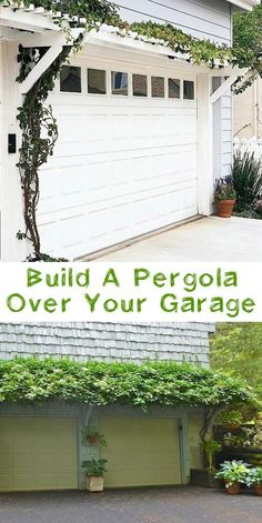 Add a pergola over your garage! ~ 17 Impressive Curb Appeal Ideas (cheap an. : Add a pergola over your garage! ~ 17 Impressive Curb Appeal Ideas (cheap an… Add a pergola over your garage! Garage Pergola, Building A Pergola, Backyard Pergola, Pergola Ideas, Pergola Designs, Small Pergola, Garage Trellis, Wooden Pergola, Small Patio