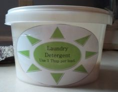 DIY Powdered Laundry Detergent~HE Safe!