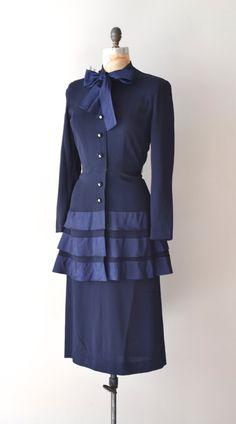 vintage 40s rayon dress