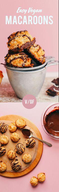 FLUFFY, Crispy Vegan Macaroons! 6 ing, 30 min #vegan #glutenfree #aquafaba #macaroons #minimalistbaker