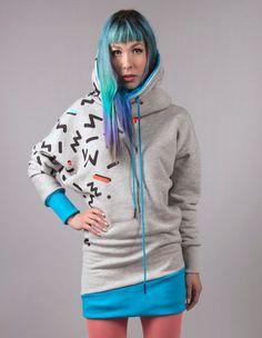 Hoodies mit grafischem Druck // Graphic print hoodie via DaWanda.com