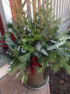 beautiful winter container designed by MEG