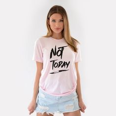 25122a5b Game of Thrones Inspired Unisex T-Shirt featuring Arya Starks Famous Phrase  Not Today!