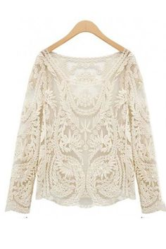 I LOVE this crochet tunic!!  So pretty!