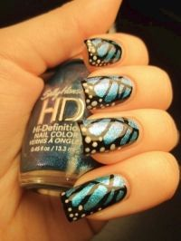 Crazy cool butterfly nails!