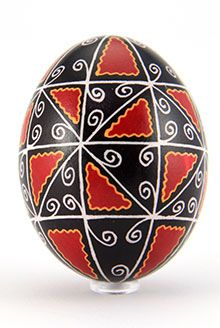 Easter egg in batik technique pale