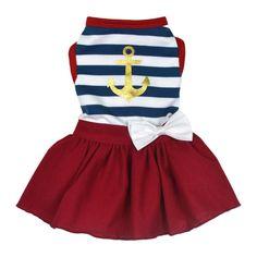 Designer Dog Dress - Sailor Girl