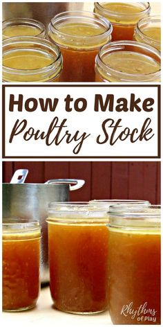 Learn how to make chicken stock from bones, a leftover turkey carcass, or a whole chicken to make broth for soup, add flavor to rice and many other nutritious uses and benefits! Chicken Stock Recipe From Bones, Turkey Stock Recipe, Chicken Bone Broth Recipe, Make Chicken Broth, Chicken Broccoli Soup, Chicken Soup From Bones, Homemade Turkey Soup, Homemade Bone Broth, Homemade Chicken Stock