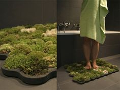 Bringing the Forest to the Bathroom with the Moss Mat. Way cool!