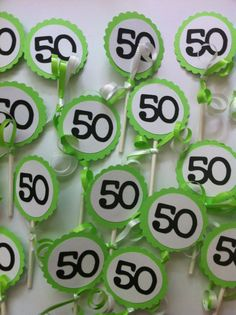 Birthday Decorations Cupcake Toppers by FromBeths Moms 50th Birthday, Adult Birthday Party, Birthday Ideas, 30th Birthday Decorations, Poker Party, Milestone Birthdays, Cupcake Toppers, Aunt, Handmade Gifts