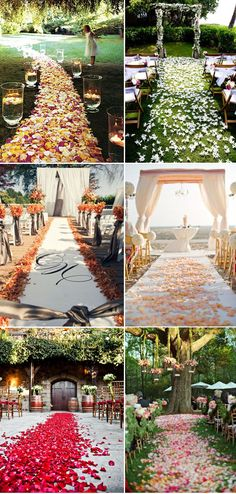 magnificent wedding aisle  decoration with flower