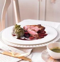 Entenbrust mit Portweinsauce und Möhren Rezept - [ESSEN UND TRINKEN]