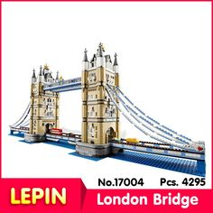 (67.17$)  Buy here - http://ai4nk.worlditems.win/all/product.php?id=32792617208 - LEPIN 17004 4295pcs Street View Series London Bridge Model Building Kits s Blocks Bricks Compatible With 10214 Gift