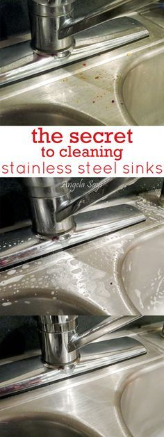 Limpieza - cleaning - The secret to getting your stainless steel sinks and appliances super shiny Deep Cleaning Tips, House Cleaning Tips, Diy Cleaning Products, Cleaning Solutions, Spring Cleaning, Cleaning Hacks, Diy Hacks, Cleaning Recipes, Casa Clean