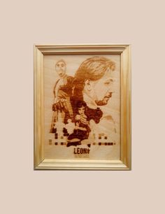 Leon: The Professional pyrography. Jean Reno. Luc Besson. Gary Oldman. Norman Stansfield. Natalie Portman. Mathilda. Léon. by PyroWell on Etsy