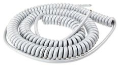 Buy 1m 3 Core Coiled Cable 1.5 mm² CSA Polyurethane PUR Sheath Grey, 6.7mm OD