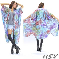 VTG ethnic Oversized Tie Dye Hippie Boho Tribal by HSVintage, $58.00