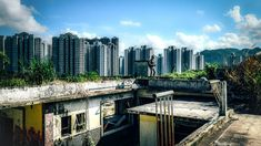 """HK Urbex explores abandoned buildings, goes down closed mine shafts, and pokes through World War II tunnels, all in the name of recording the city's forgotten history.""""Did you know Hong Kong had … Abandoned Buildings, World War Ii, Art Boards, Hong Kong, New York Skyline, Past, Explore, History, City"""