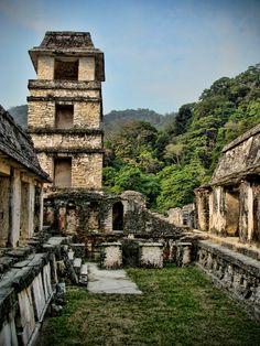 Palais du Site de Palenque, Chiapas, Mexico