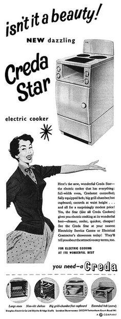 Vintage 1950s kitchen appliances ad