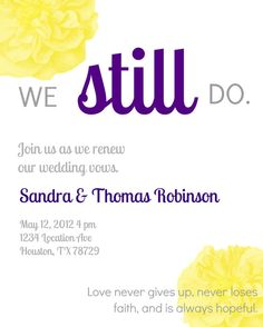 Vow renewal invite!
