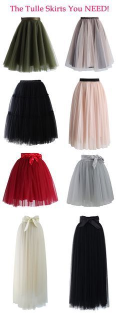 The tulle skirts you need! Our tulle skirt features a satin waistline, a flattering flit-and-flare cut and 5 layers of delicate, gracefully flowing mesh! - different style of tulle skirts Look Fashion, Womens Fashion, Fashion Tips, Fashion Spring, Fashion Ideas, Mode Outfits, Diy Outfits, Hipster Outfits, Skirt Outfits