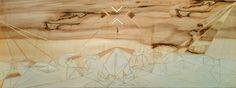 """Level Alfa"" Wooden inlay, 2015 (100x35 cm)"
