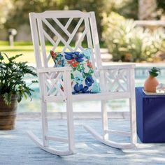 If you've never spent a warm, sunny Saturday in a rocking chair on your front porch with a cold drink and a good book, then you need to get on that ASAP.  It doesn't matter if your style skews more fun and modern or more classic and traditional, because there are so many rocking chair styles out there to choose from—and one for just about every budget too. Now all you need is to pick your favorite outdoor rocker and find the perfect spot for it, be that a patio or a porch. #bestrockingchairs White Wooden Rocking Chair, Outdoor Rocking Chairs, Adirondack Chairs, All You Need Is, Wooden Dining Room Chairs, Desk Chairs, Office Chairs, Porch Chairs, Lounge Chairs