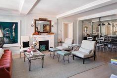 Salon de l'ancien appartement de Jimi Hendrix à New York.