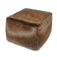 385903145ffc This luxurious Faux Fur Cube in Golden Bear makes a wonderful foot stool