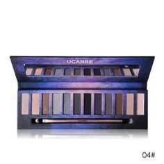 UCANBE Brand 12 Color Nude PRO Eye Shadow Palette Perfect Golden Sleek Smoky Eyeshadow Shimmer Matte Naked Palette Makeup Set