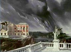 Château en Espagne (Castle in Spain) - Carel Willink , 1939 Dutch, Oil on canvas Italian Painters, Dutch Painters, Magic Realism, Fantasy Places, Dutch Artists, Cloudy Day, Album, Another World, Surreal Art