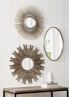 Mirrors make a room appear larger and add an elegant look. HomeDecorators.com