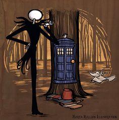 Jack Skellington meets the ... TARDIS?! Awesome.