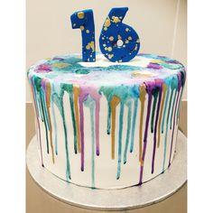 Watercolour drip birthday cake!